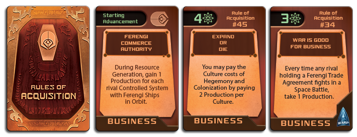 Ferengi Advancements - The Rules of Acquisition